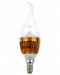Bec LED E14 3W Dimabil Rece - forma de lumanre LED Interior