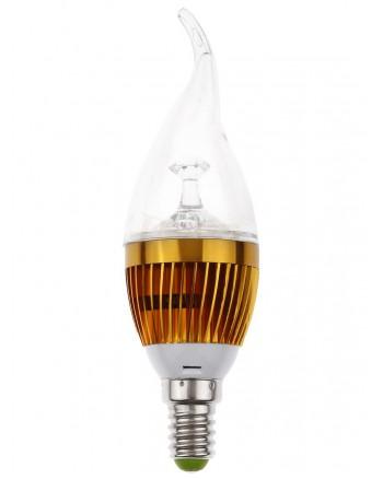 Bec LED E14 3W Dimabil Rece - forma de lumanre